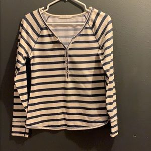 Striped button up long sleeve